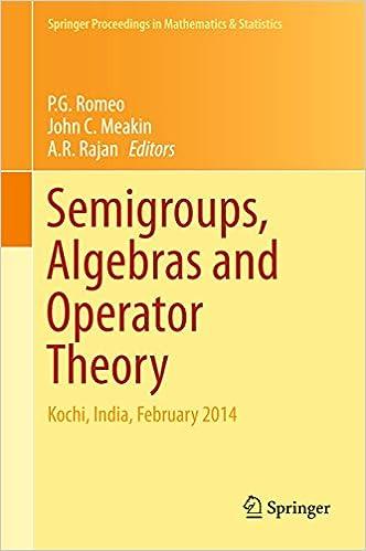 Semigroups, Algebras and Operator Theory: Kochi, India,