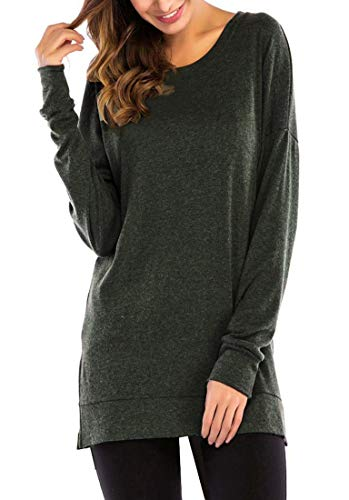 187 Gsvibk Womens Fall Pullover Tunics Long Sleeve Side