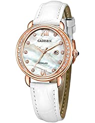 BAOGELA Womens watches Fashion Luxury Dress Quartz Wrist Watch with Leather Strap (Rose-gold)
