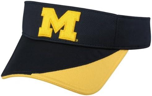 One Size NCAA Michigan Wolverines Mens Supervisorsupervisor Hypercool Visor Primary Team Color