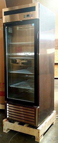 27'' 1 Door Upright Stainless Steel Glass Window Reach In Freezer Merchandiser Display Case, MCF8701, 21 Cubic Feet, Commercial Grade by WP Restaurant Freezers