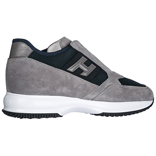 Shoes Interactive on Suede Men's Slip Grey Hogan Sneakers Trainers 5TapwTq