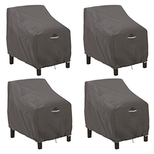 Classic Accessories 55-422-015101-4PK Ravenna Deep Seated Patio Lounge Chair Cover (4-Pack) by Classic Accessories