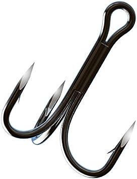 TK315 EAGLE CLAW Trokar 4x Treble Hook Regular Shank Size 2 2ct