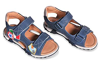 Amici Shoes Blue Flat Sandal For Boys