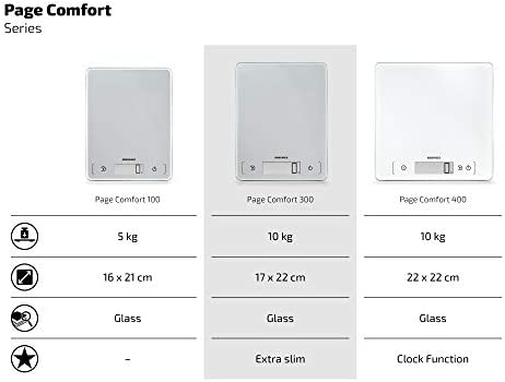 Soehnle 61504 Page Comfort Kitchen Scales, Silver