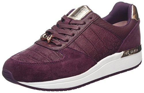 Ted Baker Kapaar - Purple Leather Womens Trainers 8 - Stockist Ted Baker