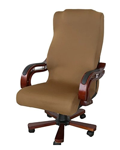 Chiavari Chair Covers (Deisy Dee Slipcovers Cloth Universal Computer Office Rotating Stretch Polyester Desk Chair Cover C062 (brown))