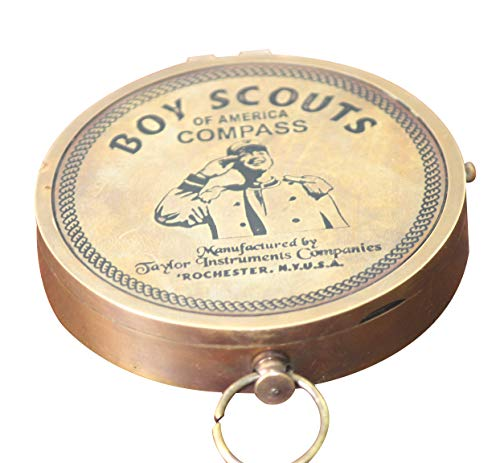 Collectibles Buy American Boy Scout Compass Antique Vintage Brass Compass (Compass)