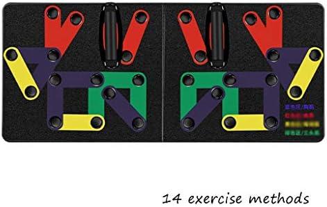 プッシュアップバー 腕立て伏せ、多機能の色分けされた腕立て伏せ、家庭の運動やフィットネスに最適 (Color : 14 types)