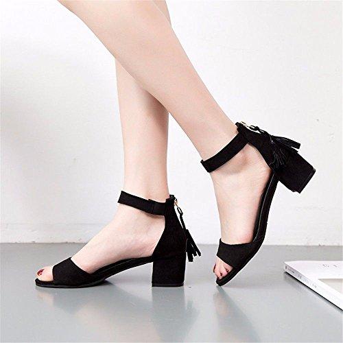 Con Fondo Code Europeo All'Aperto Pantofole BTBTAV European Lady 36 Piatto A D'Estate Black Scivolo Nero 35 Codice 6xYwtwvq