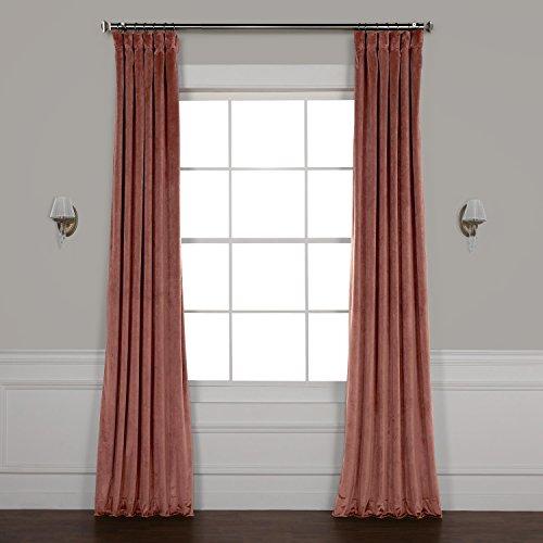 HPD HALF PRICE DRAPES VPYC-161234-84 Heritage Plush Velvet Curtain, 50 x 84, Wild Rose For Sale