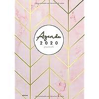 Agenda 2020 Semanal Anual: Agenda 2020 con Vista Semanal - Del 1 de enero de 2020 al 31 de diciembre de 2020 - Planificador 2020 Semana Vista - ... rosa, Color rosa y oro rosa (Spanish Edition)