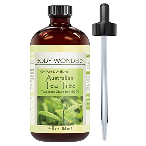 Price comparison product image Body Wonders 100% Pure Australian Tea Tree Oil –4 fl oz Bottle- Finest of Essential Oils from Australia for Aromatherapy