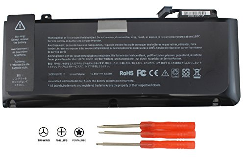 BATURU A1322 Laptop Battery for MacBook Pro 13 inch A1322 A1278 (mid 2009 2010 Early 2011 Late 2012 Version) MB990LL/A MC724LL/A MD314LL/A 020-6547-A - 12 Month Warranty