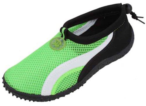 B2906A Womens Water Shoes Aqua Socks Slip on Sport Pool Yoga Dance Beach Surf 6 Colors Green-1 AeLKog6zr5
