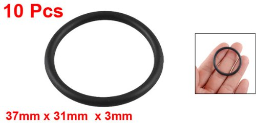 Replacement Black 37mm x 3mm Rubber O Ring Oil Seal Gasket 10 Pieces