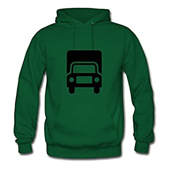 Cotton Popular Truck Women Personalized X-large Hoody Green