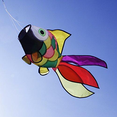 emma kites Cute Rainbow Fish Windsock Spinner Spiral 32-inch by emma kites (Image #3)