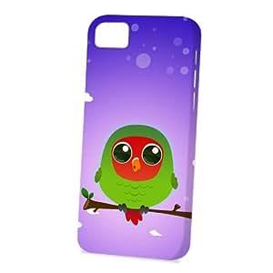 Case Fun Apple iPhone 5C Case - Vogue Version - 3D Full Wrap - Red Headed Lovebird by DevilleART