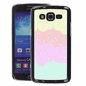 Supergiant (Sprinkles Ice Cream Sweet Kids Pink) Impreso colorido protector duro espalda Funda piel de Shell para Samsung Galaxy Grand 2