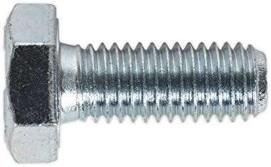 Sealey SS1025 HT Setscrew M10 x 25mm 8.8 Zinc DIN 933 Pack of 25