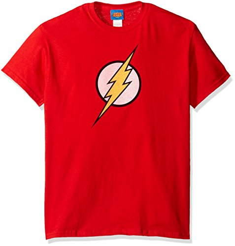 Jla/Flash Logo-Short Sleeve Adult -Red-Sm]()