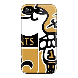 Shock Absorbent Hard Cell-phone Case For Iphone 4/4s With Provide Private Custom Beautiful New Orleans Saints Image TimeaJoyce