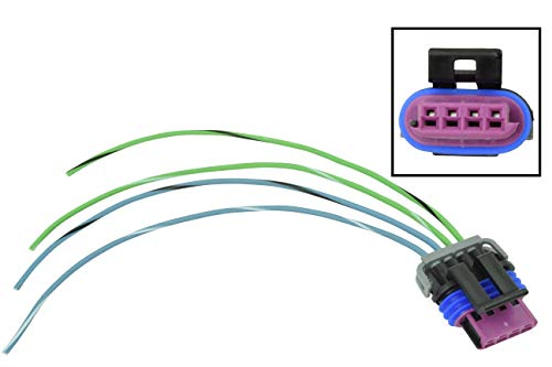 Air Valve Connector - LS IAC Wire Pigtail - Idle Air Control Valve Connector - LS1 LSX Plug WPIAC30