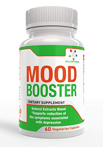Mood Booster is a Natural Herbal Supplement, Composed of Curcumin, Saffron, Phosphatidyl Serine and Bioperine, to Help You Fight The Symptoms of Depression and Anxiety, Made in USA,