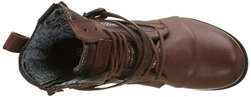 BUNKER Damen Kol Biker Boots Braun (Cognac)
