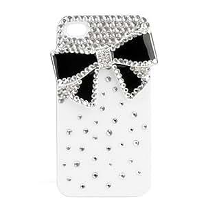 Carcasa Monocrom¨¢tica de Lazo y Cristal para el iPhone 4- Dura