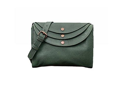 femme cuir MARIUS pochette style main PAUL MINAUDIÈRE Délavé Sac vintage à Vert LA w7xqBaWnUq