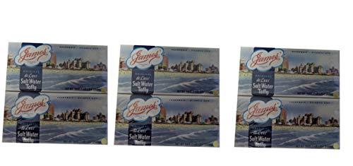 James Candy Company Salt Water Taffy, 16-Ounce Boxes (Pack of 6) (James Salt Water Taffy)