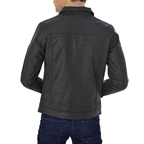 Vêtements Véritable Hommes Cuir En Fsh039 Feather Skin Mode Veste Pour 54q1Tn7
