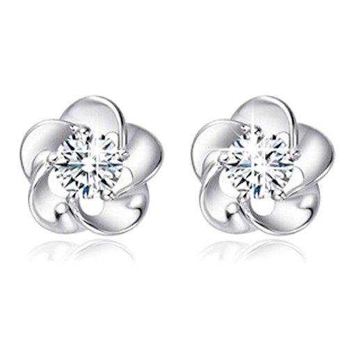 Hemlock Sterling Silver Rhinestones Earrings