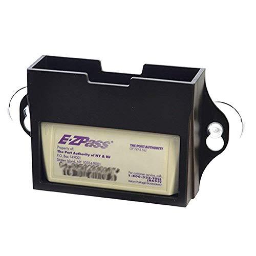 EZ Pass Toll Tag Holder, Fits New & Old Transponder, i-Pass, i-Zoom, Black