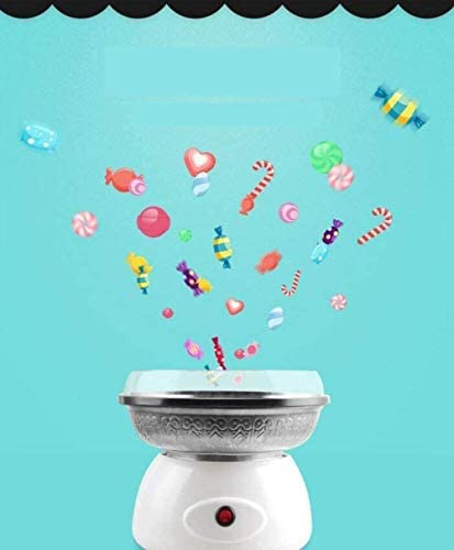 Suikerspinmachine voor thuis Cotton Candy Machine, Mini Kinderen Thuis Automatische RVS Household Plug Cotton Candy Machine, 28.5 * 28.5 * 28.5cm WJHCDDA