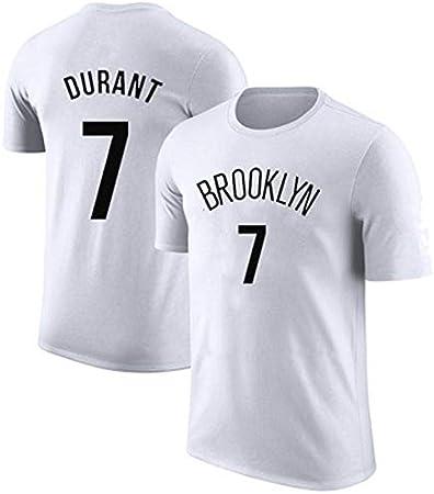Shelfin Jersey De Hombre Nets Owen 11 Camiseta De Algodón De Manga Corta Durant 7 Camiseta De Algodón, Ropa Deportiva, Apariencia Masculina, Ropa De Verano. (Color : White B 7, Size : XL): Amazon.es: Hogar
