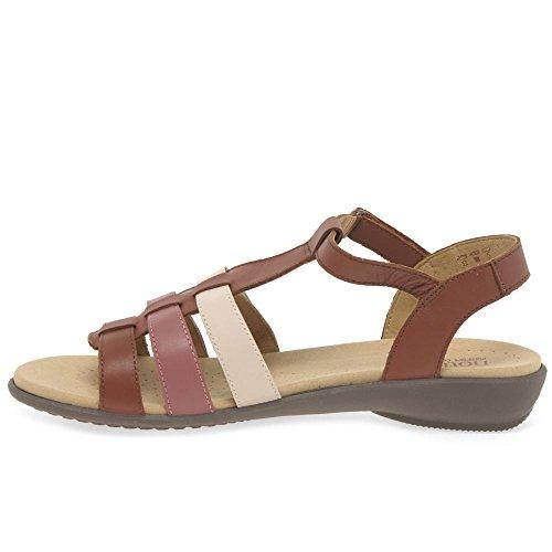 Women's Sol Toe Hotter 7yway Open Sandals Brown wX8nPON0k