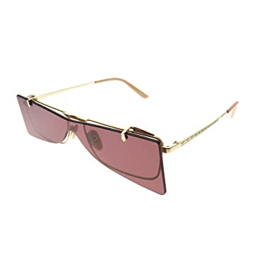 ec4c48fe0 Gucci Flip-Up GG 0363S 002 Gold Metal Rectangle Sunglasses Red Lens:  Amazon.co.uk: Clothing