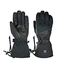 HANXIAODONG Electric Heated Gloves for Men and Women Black Electric Rechargeable Heated Gloves Touchscreen Gloves for Women and Men for Motorcycle,Ski,Hunting,Outdoor (Color : Black, Size : L)