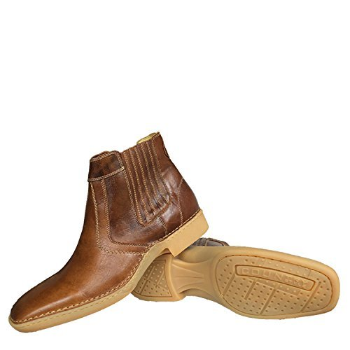 Brunello's Casual Western Boot in Whiskey Brown- Made in Brazil