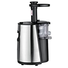 Chef's Star Slow Masticating Juicer – Stainless Steel/Black