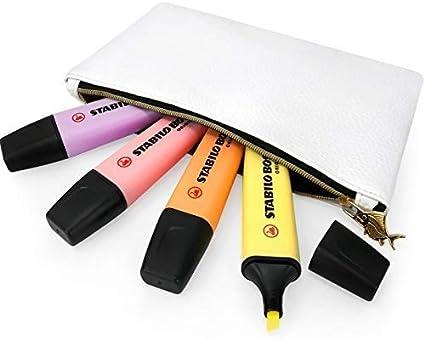 Stabilo Boss Original Pastel Subrayadores Rotuladores – Rosa, Melocotón, Lila, Amarillo + Grasa Belly Pez Blanco Estuche: Amazon.es: Oficina y papelería