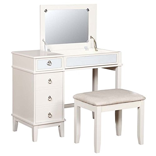 va 2 Piece Bedroom Vanity Set in White ()