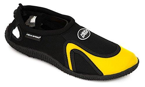 Aqua-shoes Aqua-speed® Modello 18 (35-45 Struttura Unisex Antiscivolo Coulisse Piscina Piscina + Portachiavi Up®)