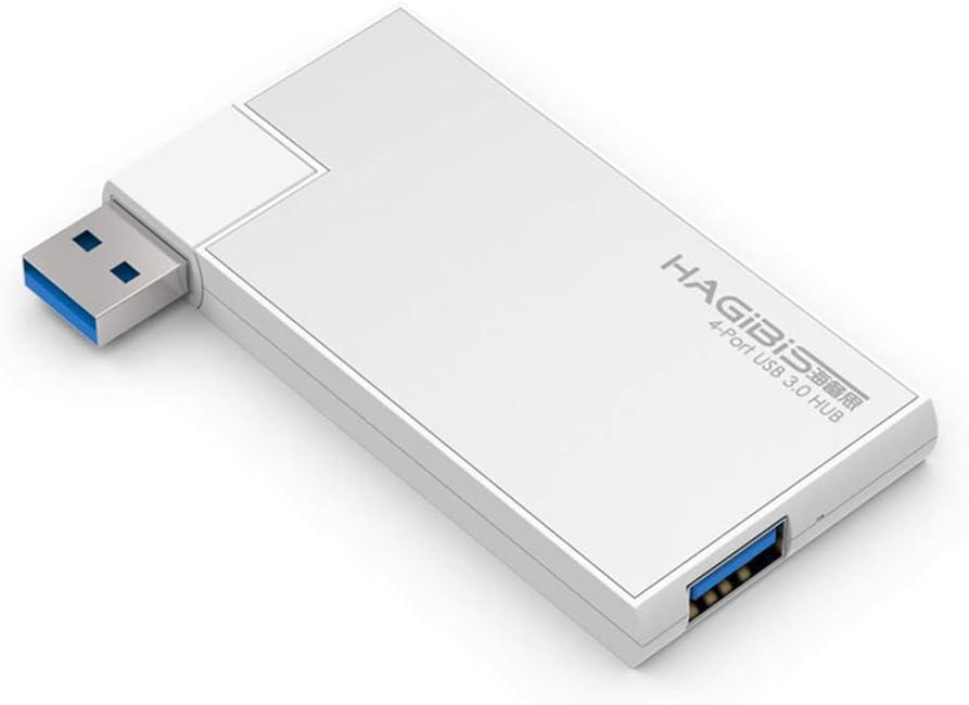 yan 4-Port USB 3.0 Hub 5Gbps Portable Compact for PC Mac Laptop Notebook Desktop