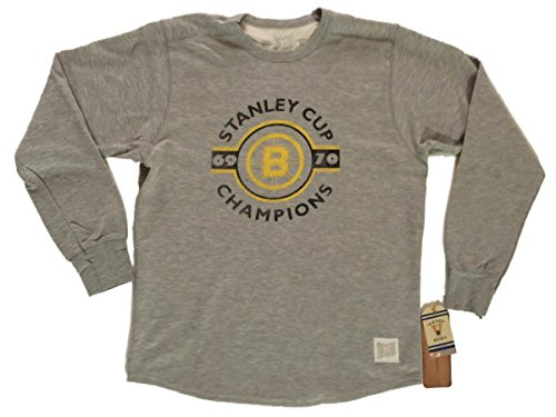Boston Bruins Retro Brand WOMEN 1969-70 Stanley Cup Champs Pullover (M)