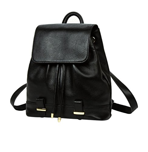 Handbags Women Leather Backpacks Travel Bags European And American Fashion Outdoor Backpacks Black Birthday Gifts